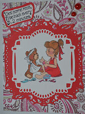 LITTLE NURSE & wordGET REST RETIRED U get photo2&3)art impressions rubber stamps