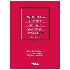 Contract Law: Selected Source Materials Annotated, 2013 (Selected Statutes), Eis