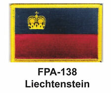 """2-1/2'' X 3-1/2"""" LIECHTENSTEIN Flag Embroidered Patch"""