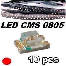 149/10# LED rouge CMS 0805 10 pcs -- SMD red