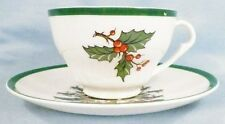 Vintage Christmas Tree Cup & Saucer # 1  Plummer Ltd New York AS IS CONDITION