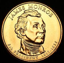2008 D James Monroe Presidential Dollar ~ Pos B ~ From U.S. Mint Roll