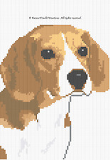 Crochet Patterns - BEAGLE Color Graph afghan pattern