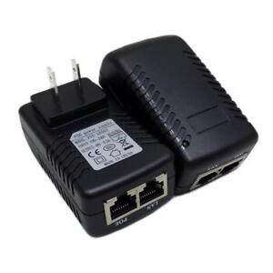 US EU 12V 1A/2A 15V 1.5A 24V 1A 48V 0.5A POE Injector Power Supply Adapter Plug