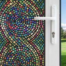 GILA 36-in W x 78-in L Multi-Colored Spiral Mosaic Privacy/Decorative Static
