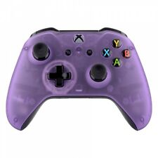 NEW Foggy Clear Purple Faceplate Front Housing Shell for Xbox One S X Controller