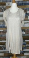 Praslin Ladies Gold Shimmer Sparkle Tunic Dress Ruched Sleeves Size UK 18 NEW