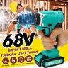 68V Cordless Drill 10mm Electric Screwdriver Impact Driver LED & 7500mAh