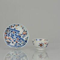 Antique Kangxi Period Imari Tea Bowl flower Chinese China Porcelain