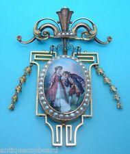 Exquisite Victorian 18k Gold Enameled Brooch / Locket (#325)