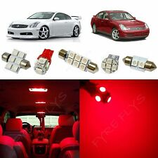 10x Red LED lights interior package kit for 2003-2006 Infiniti G35 IG1R