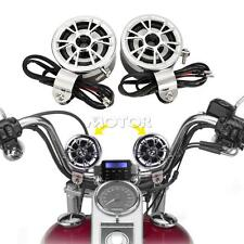 Handlebar Audio System FM Radio MP3 Stereo 2 Speaker for Honda Motorcycle Bike