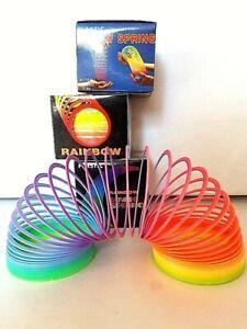 4x Regenbogenspirale, Regenbogen Spring-Spirale, Treppenläufer, Rainbow