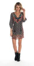 Tolani Lexi Indigo Floral Silk Print V-Neck Tunic Top Dress Size Small NEW!