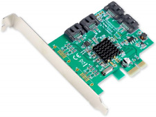 Syba SI-PEX40064 SATA III 4 Port PCI-e x1 Controller Card with Low Profile Green
