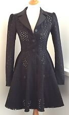 Authentic CHANEL $9,600 ~Stunning~ Black Wool Dress Jacket Coat - 34