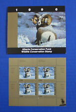 Canada (ABH01M) - 1996 Alberta Conservation Fund minisheet of 4 (MNH)