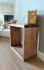 Handmade Side Table Cube Stunning Industrial Solid Wood Farmhouse Bespoke Rustic