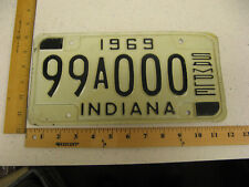 1969 69 INDIANA IN SAMPLE LICENSE PLATE TAG 99A000