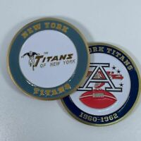NEW YORK TITANS AFL NFL 1960-1962 COMMEMORATIVE FOOTBALL CHALLENGE COIN - JETS