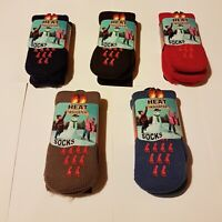 children boys and girls  1 PAIRS  THERMAL WARM SOCKS WINTER SIZE 2-5 red black