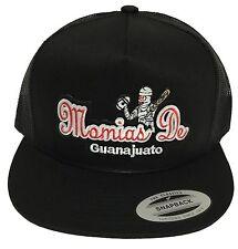 MOMIAS DE GUANAJUATO  MEXICO BASEBALL HAT BLACK MESH TRUCKER SNAP BACK