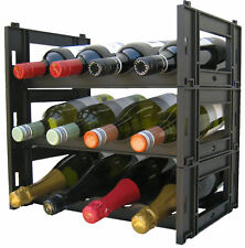 12 Bottle EZIRAK modular wine rack -FREE POSTAGE- NEXT DAY DISPATCH