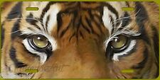 TIGER EYES ART  License Plate  Made in USA