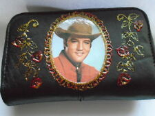 "NEW BLACK SOFT LEATHER""  ELVIS PRESLEY "" IMAGE  PICTURE PURSE"