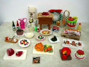 "DISHES, FOOD, MINIATURES FOR 11-1/2"" DOLLS, DOLLHOUSE OR COLLECTORS,  #6a"