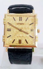 NOS 18K Gold JUVENIA MACHO Mens 25J AUTOMATIC Watch 8902 SERVICED 1Year Warranty