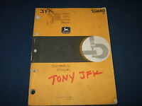 JOHN DEERE 595D EXCAVATOR TECHNICAL SERVICE SHOP REPAIR BOOK MANUAL TM-1445