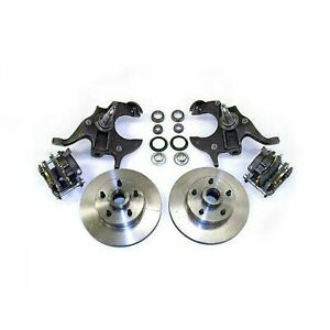 """1964 - 1972 GM A BODY 11"""" DISC BRAKE 2"""" DROP SPINDLE KIT W/ STAINLESS HOSE CHEVY"""
