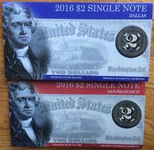 "2016 $2 SINGLE NOTE -SAN FRANCISCO ""L""+ DALLAS ""K""- SERIAL 2013"