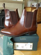 MEN'S LOAKE BROWN 290T CHELSEA BOOTS - SIZE 8.5 - BNWT