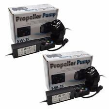 2 Packs Jebao SW15  Reef Wave Maker with Controller Powerhead Pump 110v US