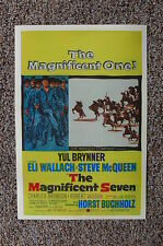The Magnificent Seven Lobby Card Movie Poster Charles Bronson Robert Vaughn
