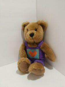 Hallmark Teddy Bear Plush Wearing Overalls