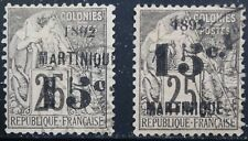 Martinique Scott 30, 32 Used Singles w/Faults Issued 1892