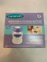 Lansinoh Momma 4 Pack 5oz Breastmilk Storage Baby Bottles Brand New Sealed