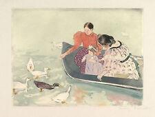 Mary Cassatt Reproductions: Feeding the Ducks - Fine Art Print