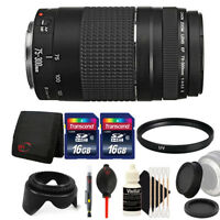 Canon EF 75-300mm f/4-5.6 III Lens + 32GB Accessory Kit for Canon 1200D 1300D