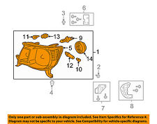 TOYOTA OEM 05-11 Tacoma-Headlight Assembly 8115004163