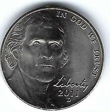2011-D Denver Uncirculated Business Strike  Jefferson Five Cent Coin!