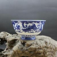 Chinese jingdezhen Porcelain Blue and White Personage Bowl #2