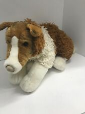 "Sheltie Dog Plush Animal Alley Toy Toys Are Us 24"" Long Brown White Tan"