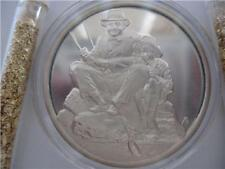 1-Oz.925 Silver Coin Hamilton Mint Norman Rockwell 4 Seasons (Summer) + Gold