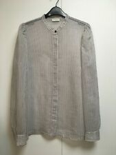 New Dries van Noten cotton silk semi sheer striped shirt blouse 42
