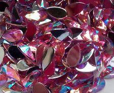 30 x AB Pink TEARDROP Acrylic Rhinestones Embellishments  Nail  ART  Gems 8x13mm