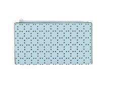 Lodis Leather Sky Blue Perforated Bifold Wallet 141050